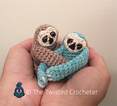 Crochet Amigurumi Baby Finger Sloth Pattern Free The Twisted