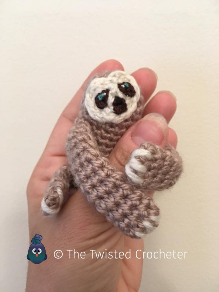 Crochet Amigurumi Baby Finger Sloth Pattern FREE The ...