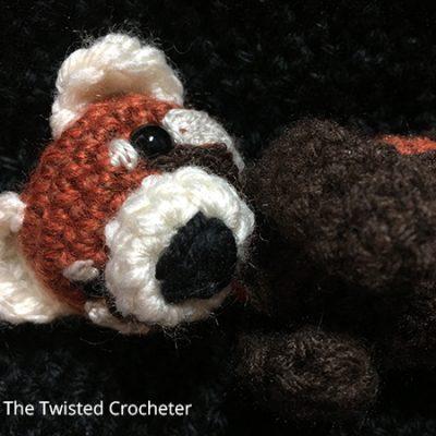 Red Panda amigurumi crochet pattern : PlanetJune Shop, cute and ... | 400x400